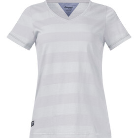 Bergans Bastøy Camiseta Mujer, white/silver grey striped